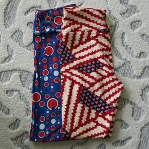 LuLaRoe 4th of July OS Leggings Set
